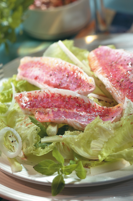 Salade de rougets au céleri
