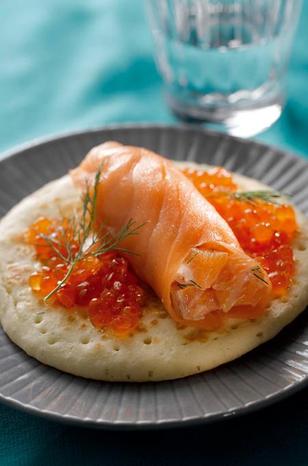 Blinis de saumon à l'aneth