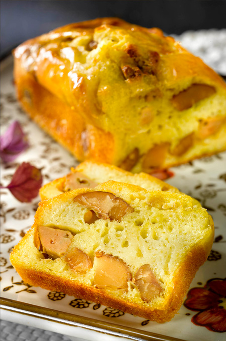 Mini cakes au foie gras et aux marrons