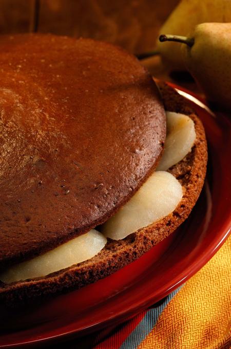 Gâteau poires chocolat
