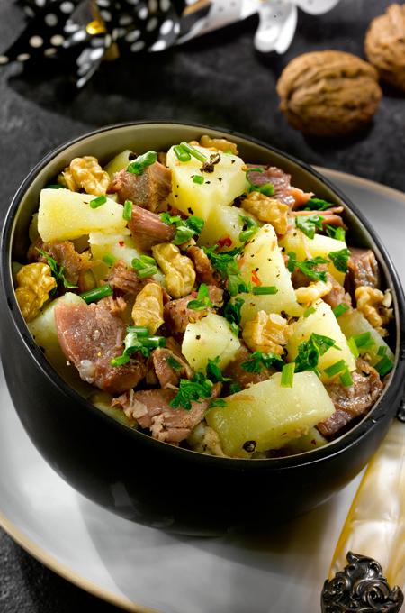 Salade de pommes de terre au confit