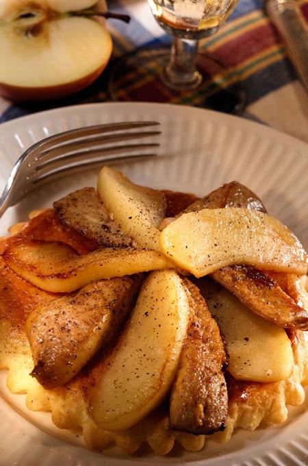 Tartelettes au foie gras et aux pommes