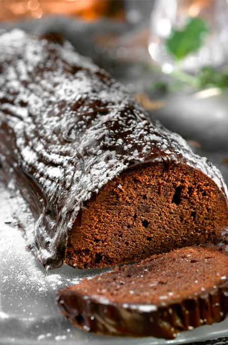 Bûche au chocolat et à l'Armagnac