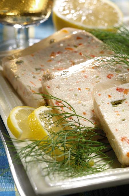 Terrine de saumon et de lotte